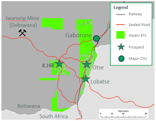 giyani project infrastructure map