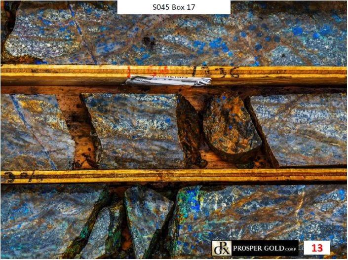 prosper gold rock samples