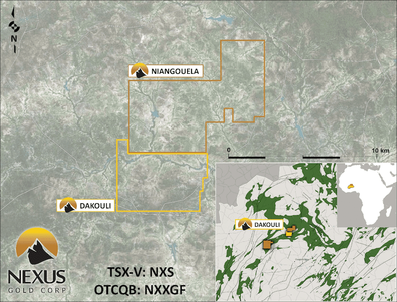 nexus gold niangouela gold concession