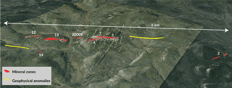 Copper North Mineral Zones