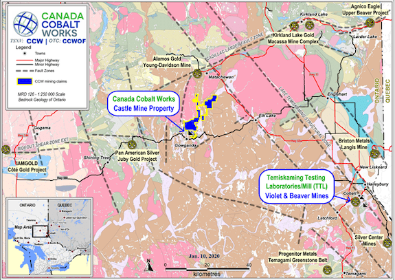 canada silver cobalt works mining map