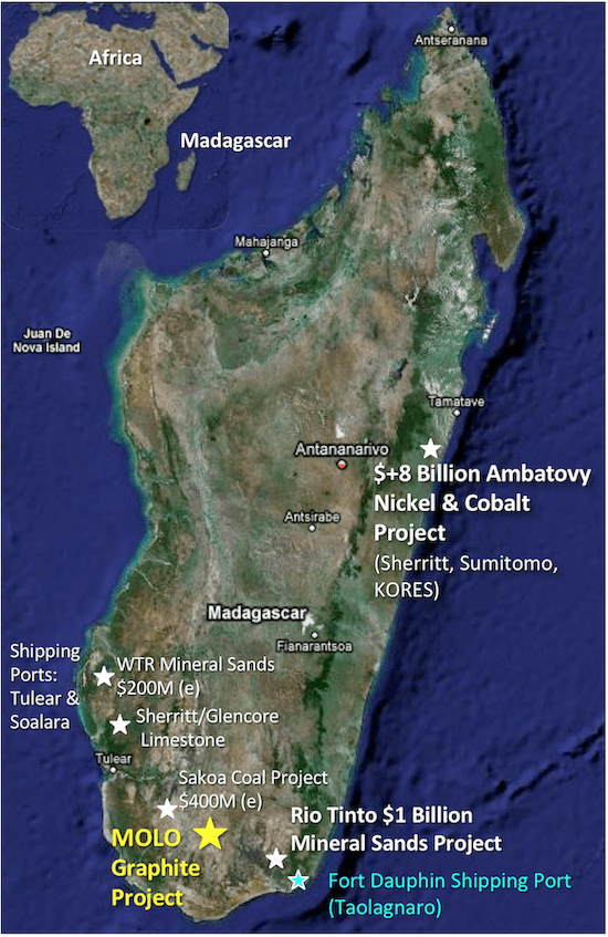 nextsource madagascar project map