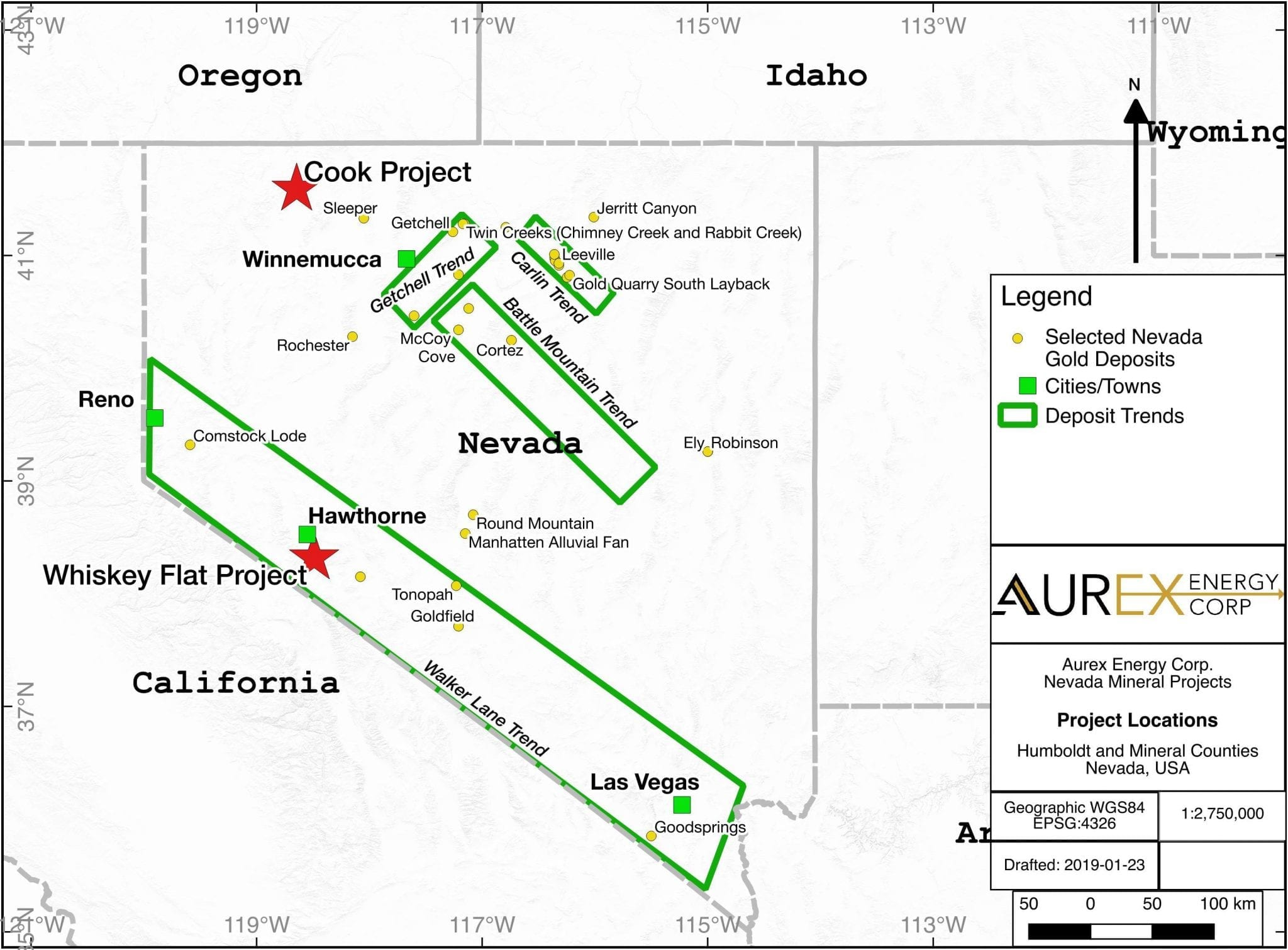 aurex energy nevada project locations