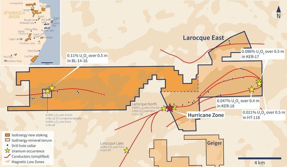 Larocque East map