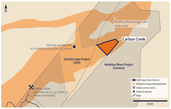 carlson creek project map