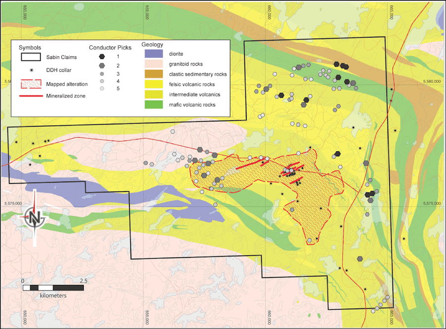 Commander Resources Marchington geology map