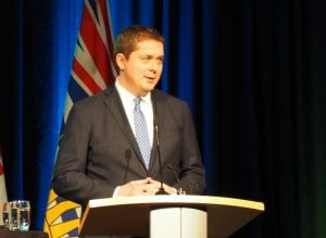 Conservative leader Andrew Scheer at the 2019 AME Roundup in Vancouver. IMAGE: Scott Tibballs