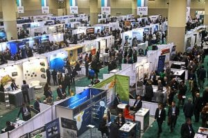 PDAC convention floor from above