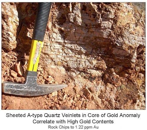 oasis projects quartz veinlets