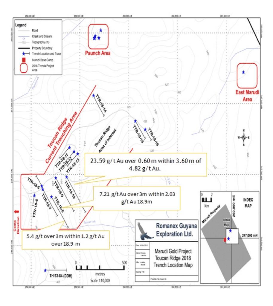 guyana toucan ridge trench map