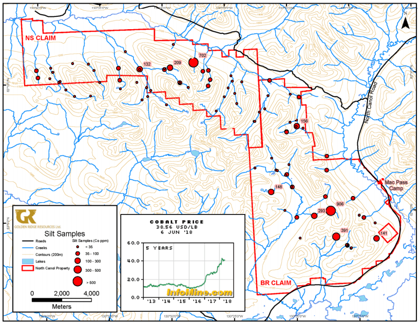 north canol cobalt zinc project map
