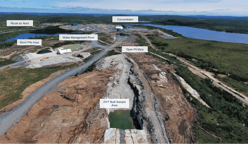 Nemaska Whatbouchi Mine Pit Aug 04, 2019
