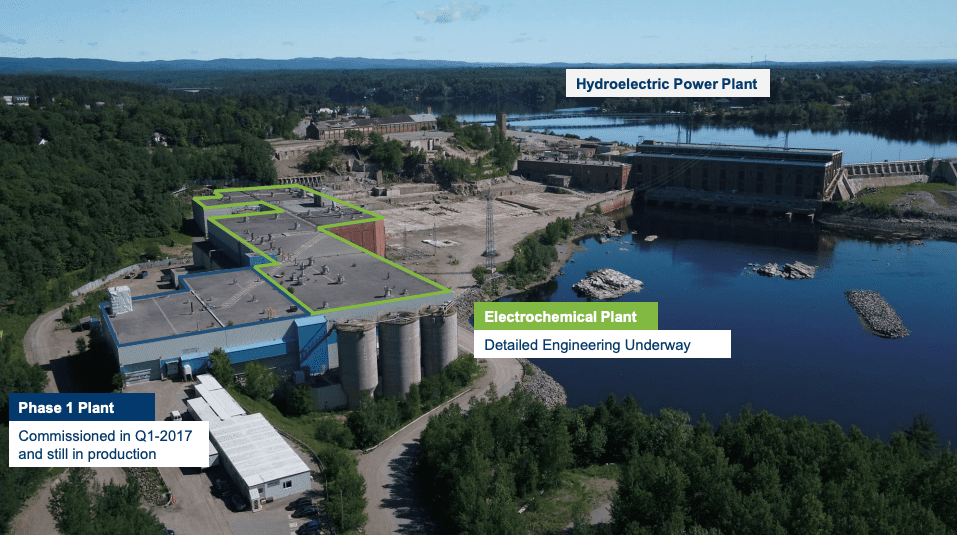 Nemaska electrochemical plant Shawnigan