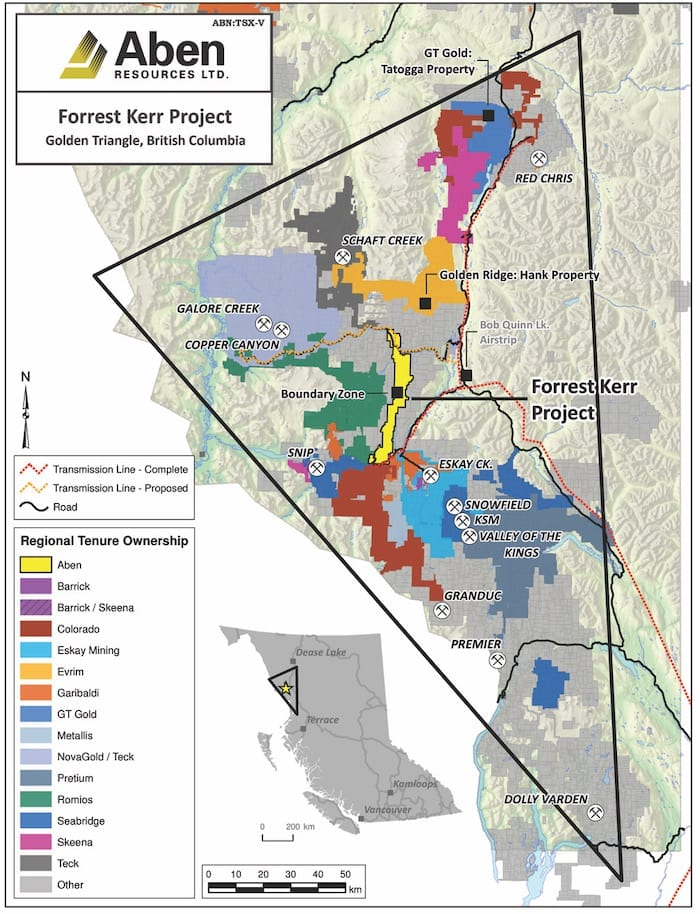 Aben Resources Forrest Kerr Project Map
