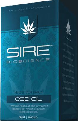 Sire Bioscience CBD oil packaging