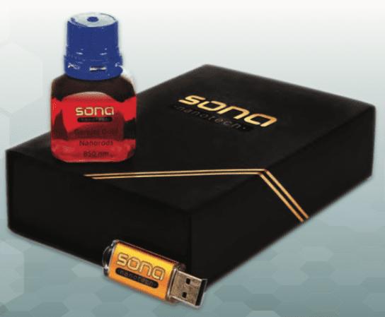 sona nanotech gold nanorod product