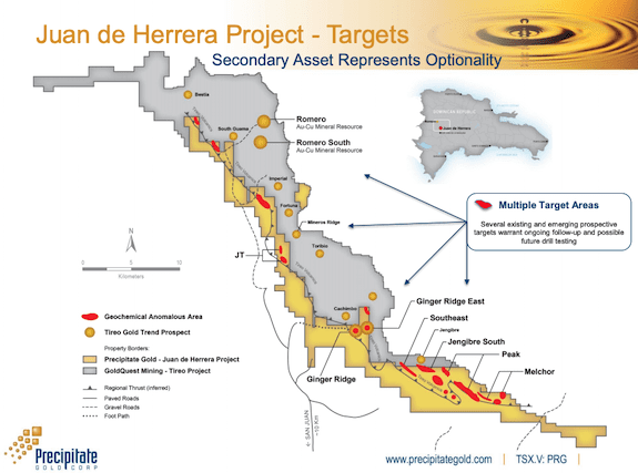 precipitate gold juan de herrera project map