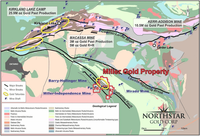 northstar gold map miller