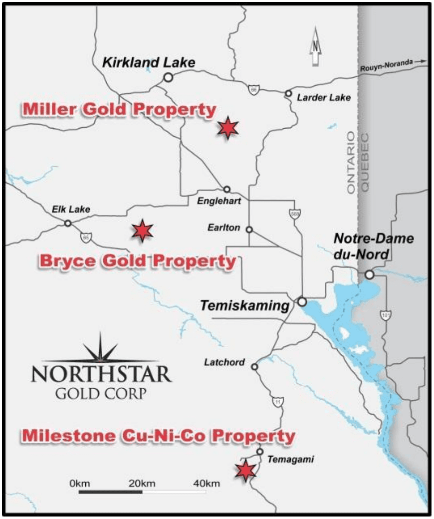 northstar gold map additional projects