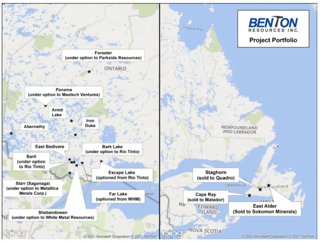Benton Resources: Precious and Base Metals Project Generator in Canada | INN