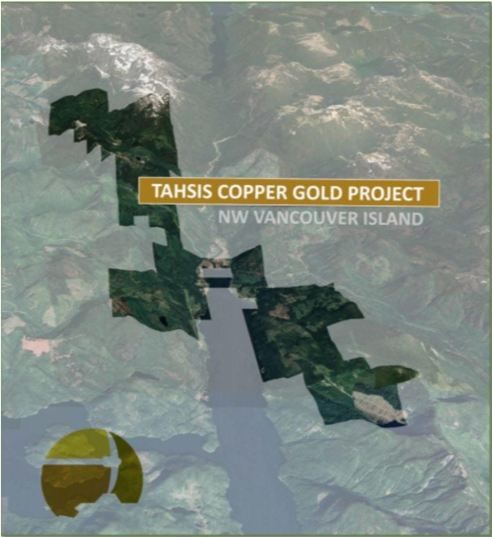 map of cross river ventures' tahsis project