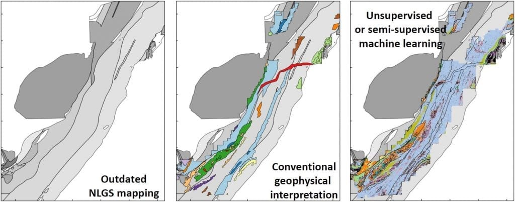 Figure 2: Machine Learning geological map using unsupervised approach.