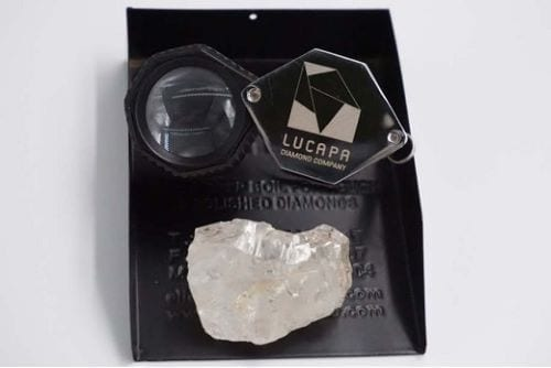 117 carat diamond recovered by Lucapa.