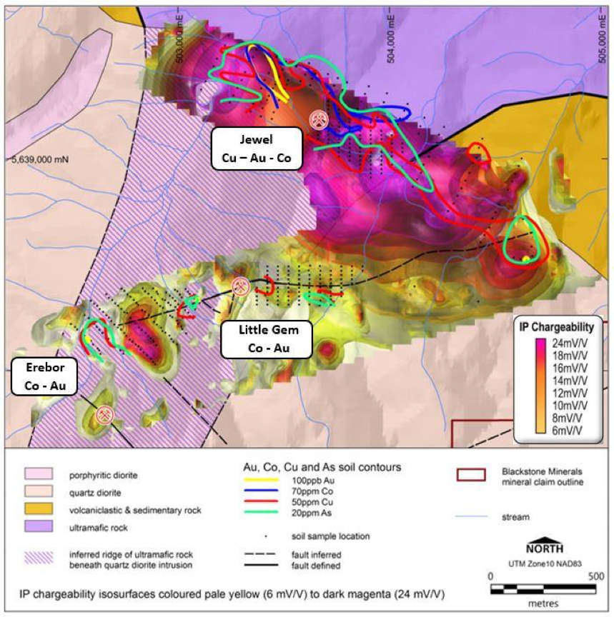 blackstone project map showing minerals