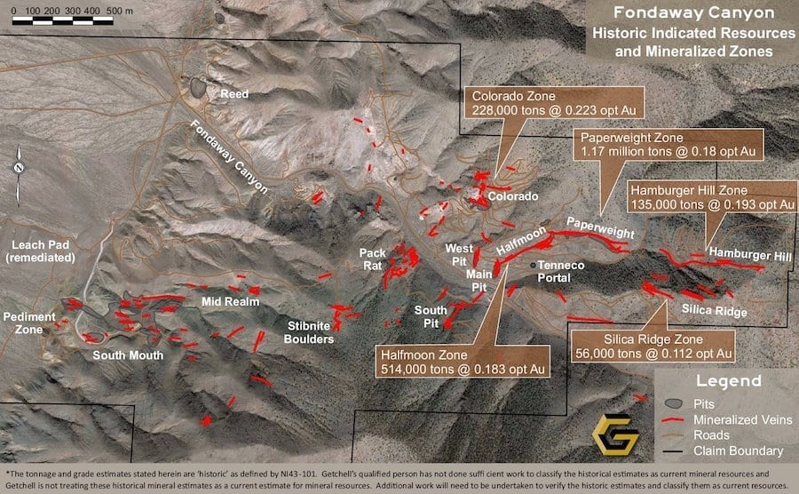 Fondaway Aerial Indicated Resources Map