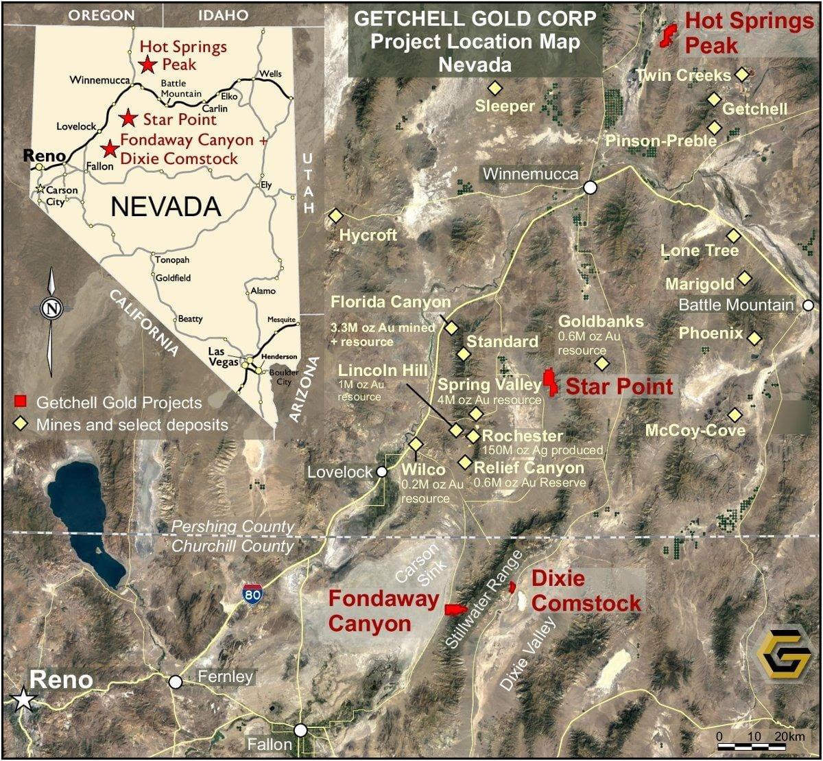 Getchell-Gold-Project-Location-Map