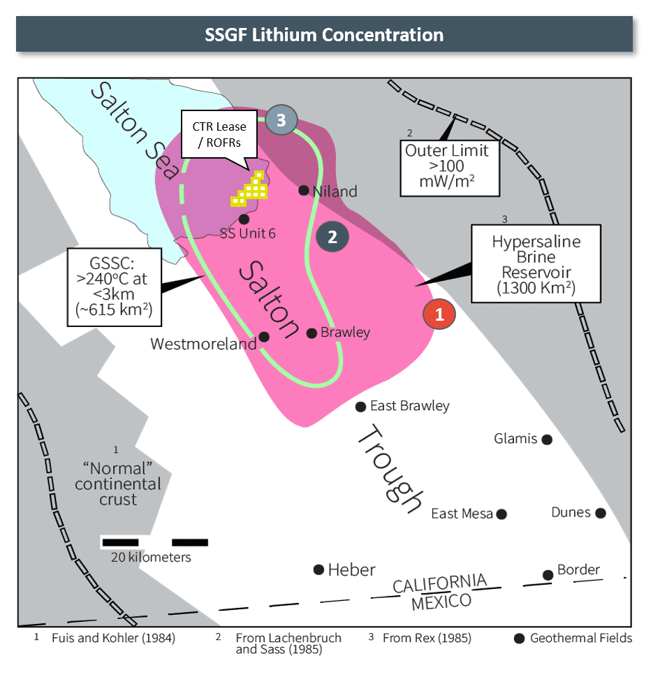 controlled thermal resources SSGF Lithium Resource