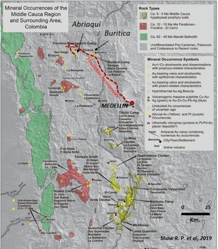 mineral occurences map