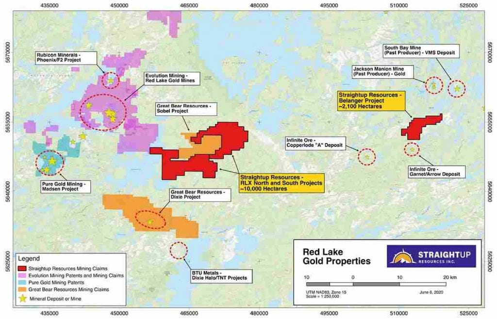Straightup Resources Red Lake Gold Properties