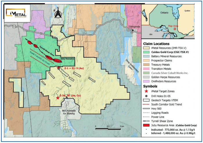 iMetals Resources Gowganda Project