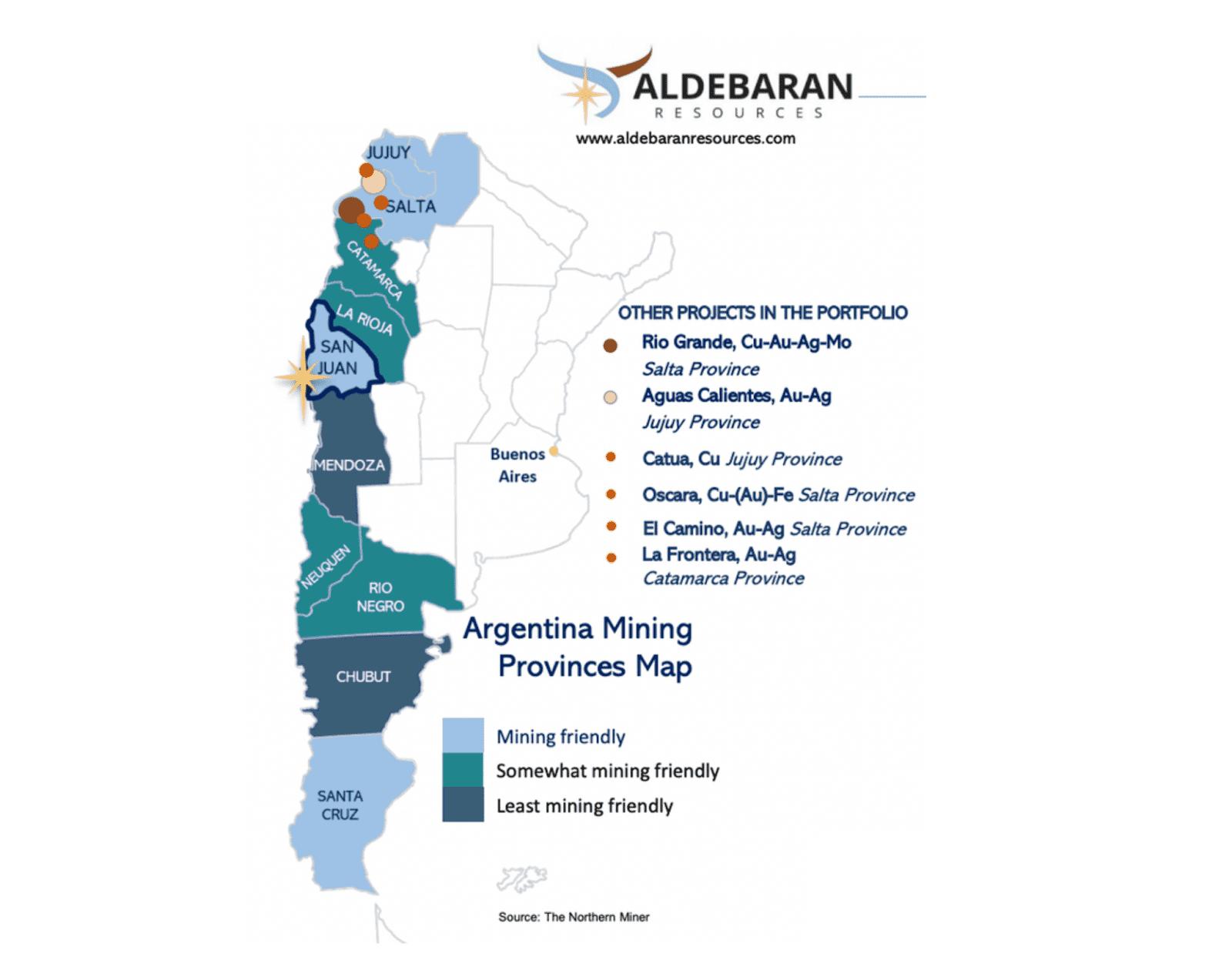 aldebaran resources argentina map