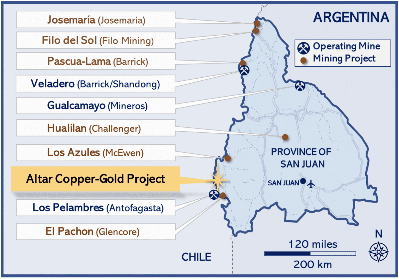 altar copper gold project map