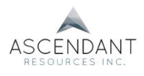 Ascendant Resources Announces Nomination of Mr. Renaud Adams to its Board of Directors