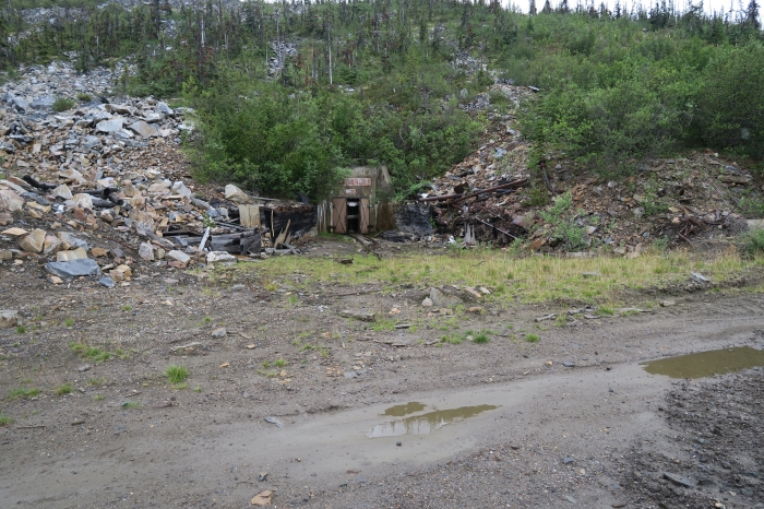 Old mine workings at Keno Hill