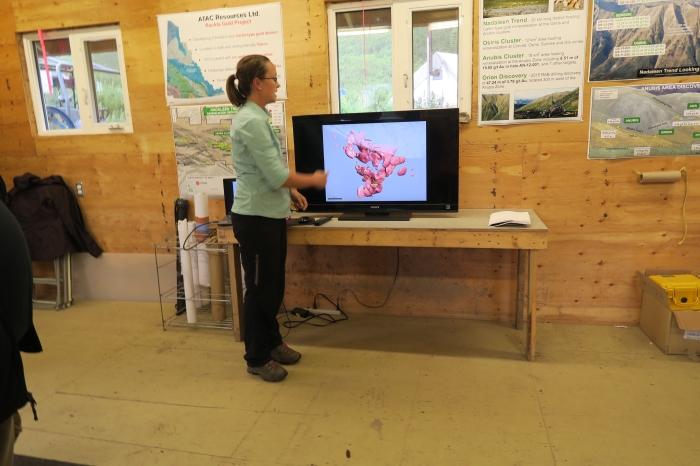 ATAC VP of Exploration Julia Lane talking about Carlin style mineralization in Yukon.