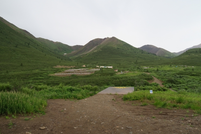 View from the heli-pad at the Rackla project