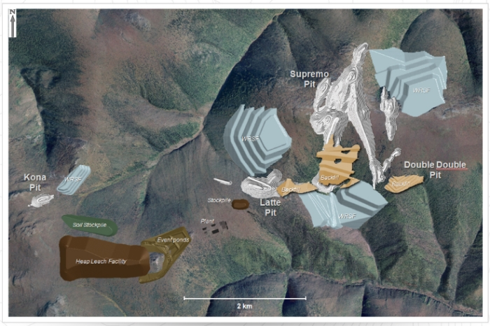 Map of the proposed mine plan. Source.