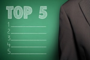 List of Top 5 Companies