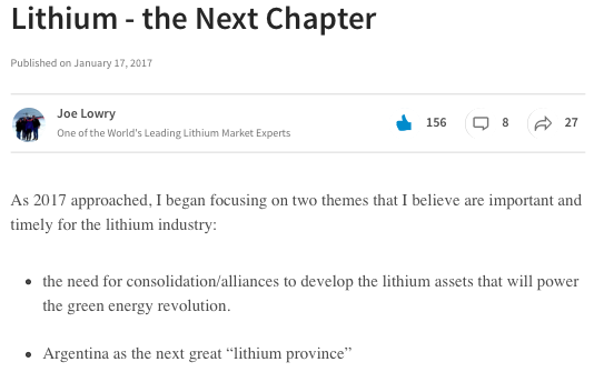 joe lowry - lithium the next chapter