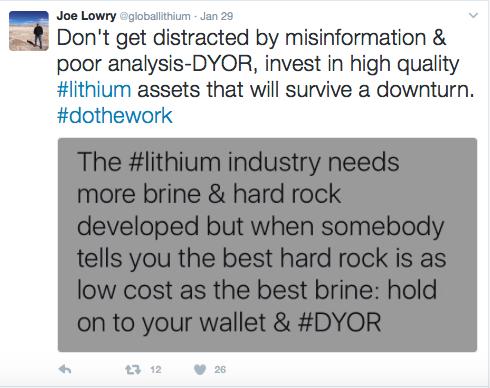 joe lowry lithium brine