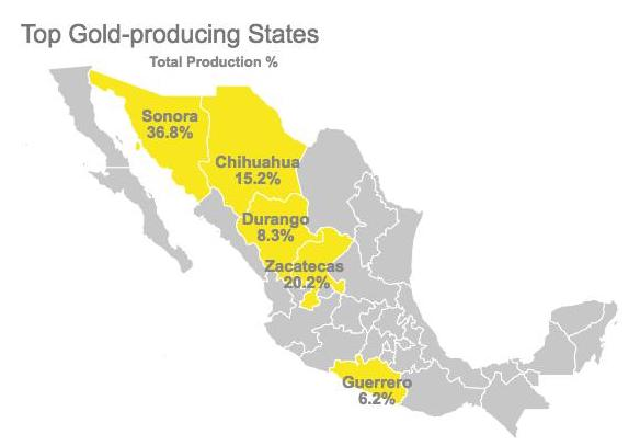 Gold Mines In World Map.What S The Future For Gold Mining In Mexico Investing News Network