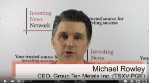 Group Ten Metals Discusses Platinum in the Yukon