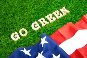 USA goes green photo concept