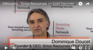 Sirios Resources on Gold Discovery in Quebec