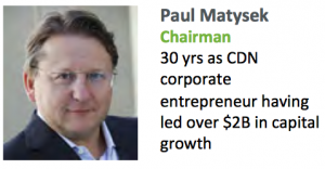 Paul Matysek chairman nano one materials
